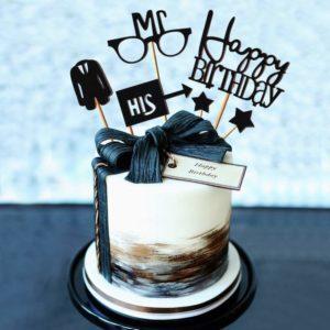 Gentleman Birthday Cake Toppers