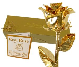 Gold Rose Gift For Wife