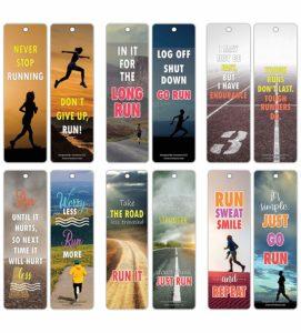 Inspiring Sayings Running Bookmark