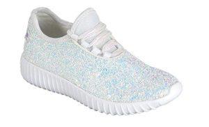 Lace up Rock Glitter Fashion Sneaker For Grad Girls