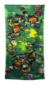 Ninja Turtles Green Brick Kids Bath Towel