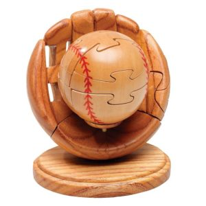 Wooden Baseball & Glove Puzzle Game