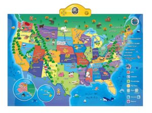 USA Map for Kids 6-10 year old