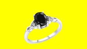 Luxury Black Diamond Ring - 5th anniversary gifts
