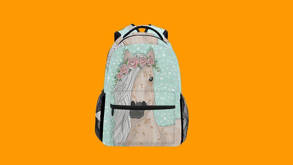 Flower Horse Student Bag