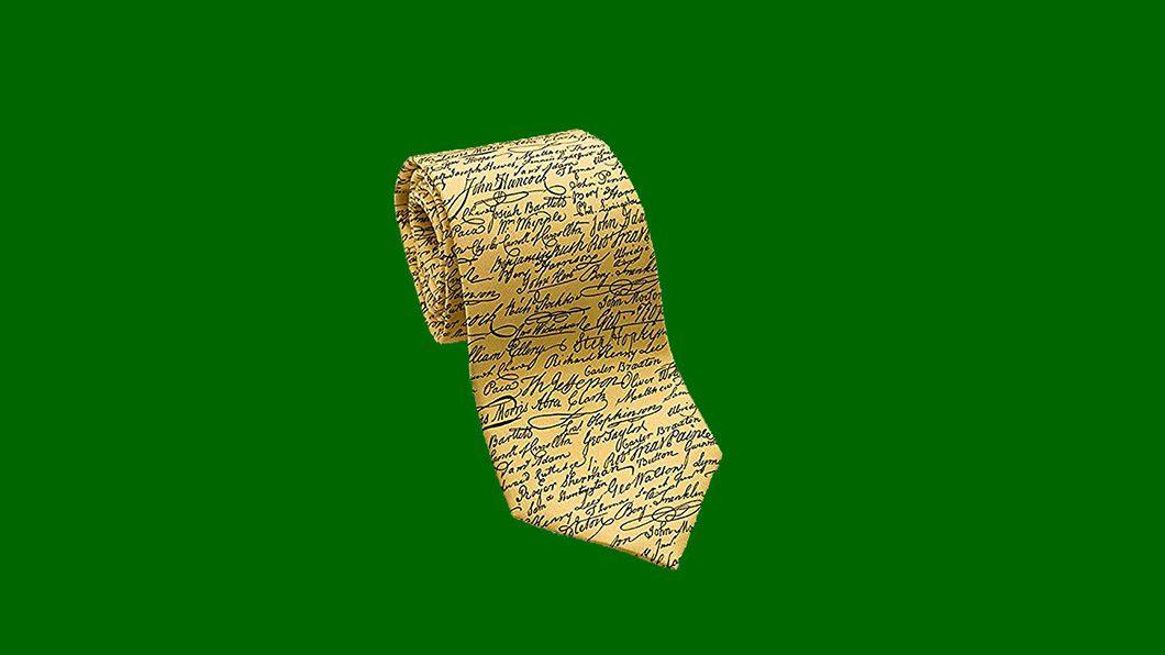 Mens Signatures Silk Necktie