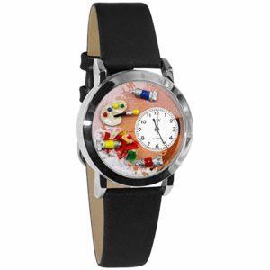 Artist Black Leather Watch