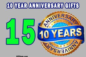 10 Year Anniversary Gifts