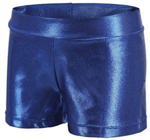Athletic Gymnastics Leotards Metallic Short