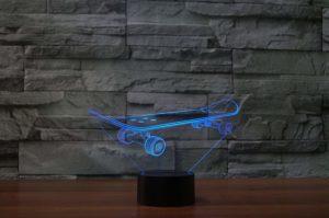 Skateboard 3D Lamp