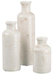 Small White Vase Set