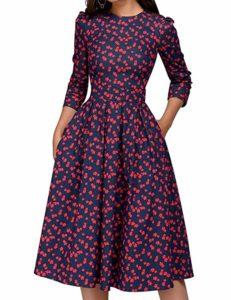 Women's Floral Vintage Dress