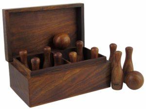 Wood Bowling Set
