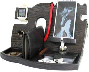 Wooden Desk Storage - Tech Gifts