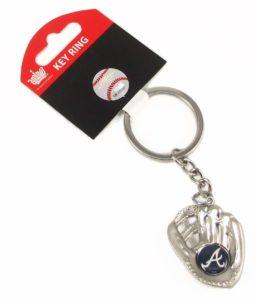 Atlanta Braves Glove Keychain
