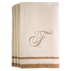 F Monogrammed Fingertip Towels