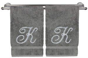 K Monogrammed Hand Towel