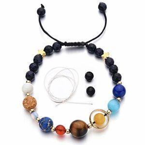 Stone Bead Charm Bracelet