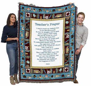 Teachers Prayer Throw Blanket - Gifts For Teachers