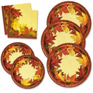 Thanksgiving Paper Plates & Napkins Set