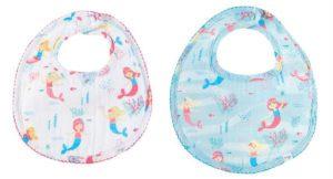 Muslin Baby Mermaid Bib Gift Set