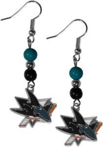 Shark Bead Dangle Earrings