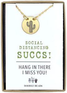 Social Distancing Card & Necklace