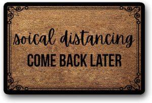 Social Distancing Doormat