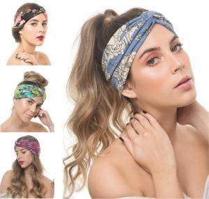 Women Boho Floral Headband
