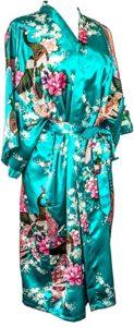 Women's Peacock Kimono Robe