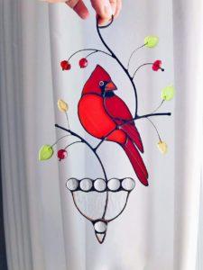Cardinal Bird Window Hangings