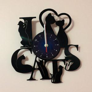 Cats Record Wall Clock