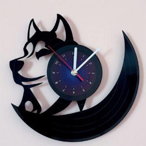 Husky Vinyl Wall Clock