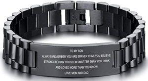 Inspirational Wristband Bracelet High School Graduation Gifts For Guys