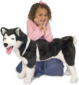 Kids Plush Husky Dog