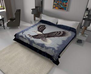 Reversible Eagle Blanket