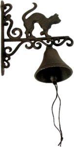 Rustic Metal Cat Door Bell