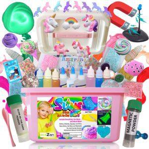 Unicorn Slime Kit For Girls - Top Gift Baskets For Kids