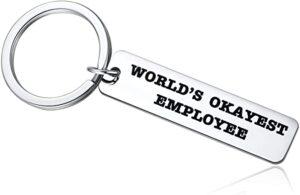 World's Okayest Employee Keychain