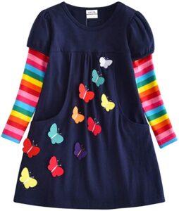 Butterfly Print Girls Dress