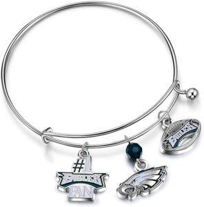 Philadelphia Eagles Charm Bracelet