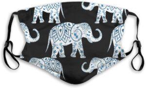 Elephant Pattern Face Mask