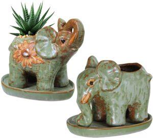 Elephant Shaped Plants Pot