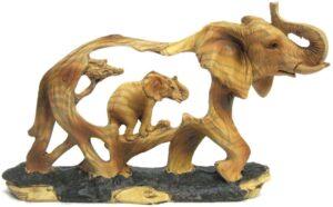Elephant Wood Figurine