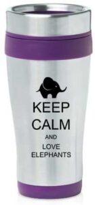 Personalized Elephant Travel Mug
