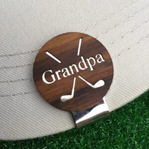 Grandpa Golf Hat Clip