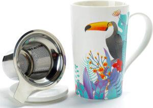 Toucan Porcelain Tea Cup