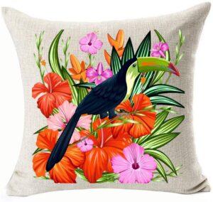 Toucan Throw Pillow Case Gift