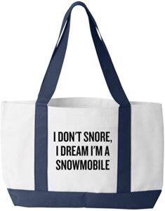 Snowmobiler Tote Bag