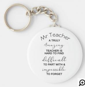 Teacher Appreciation Keychain Gifts